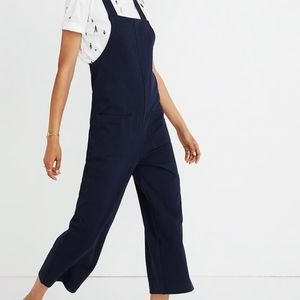 Madewell Knit Patch-Pocket Overalls Navy size M